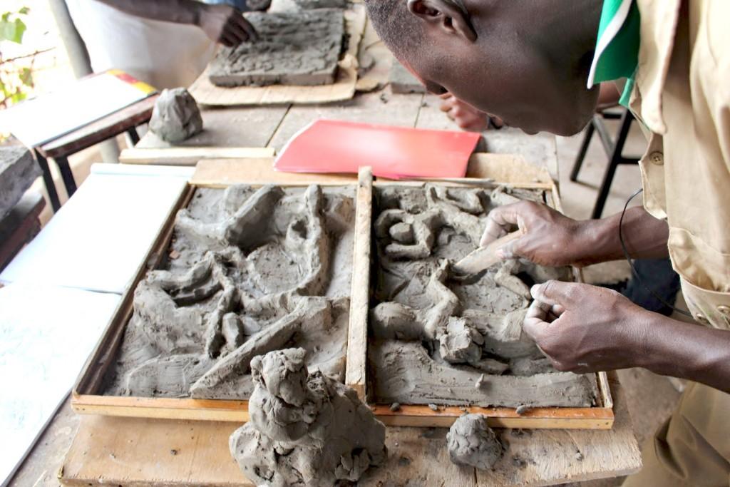 Sculpting Masks for street Children